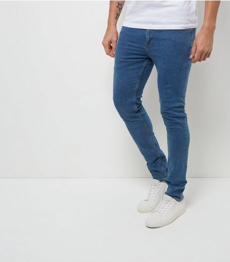 Blue Stonewash Skinny Jeans  | New Look