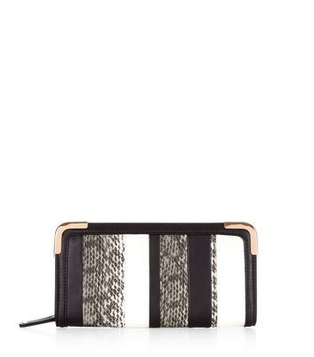 Black Snakeskin Stripe Purse