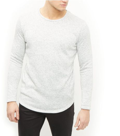 Jack and Jones Premium Grey Crew Neck Long Sleeve Sweatshirt | New Look