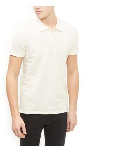 Jack and Jones Premium White Polka Dot Print Polo Shirt | New Look