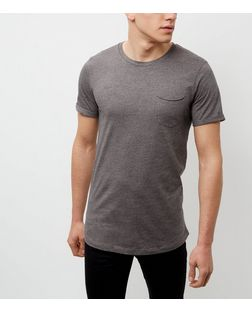 Produkt Dark Grey Crew Neck Short Sleeve T-Shirt | New Look