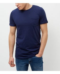 Produkt Blue Crew Neck Short Sleeve T-Shirt | New Look