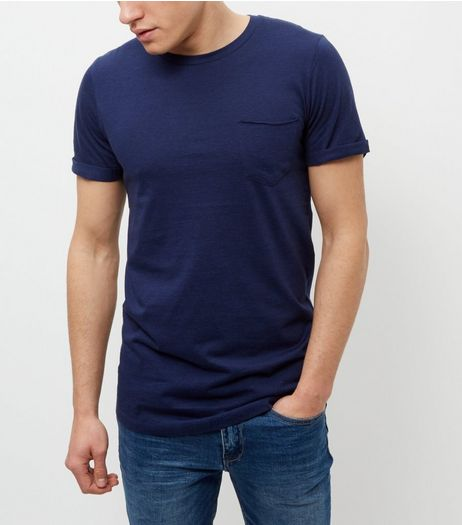Produkt Blue Crew Neck T-Shirt | New Look
