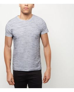 Jack and Jones Premium White Textured T-Shirt  | New Look