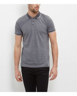 Jack and Jones Premium Grey Polo Shirt  | New Look