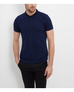 Jack and Jones Premium Blue Polo Shirt  | New Look