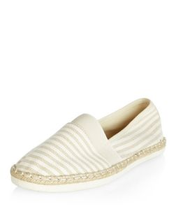 Wide Fit Cream Stripe Espadrilles | New Look
