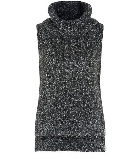 Apricot Grey Cowl Neck Sleeveless Jumper | New Look