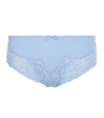 Blue Cut Out Lace Briefs