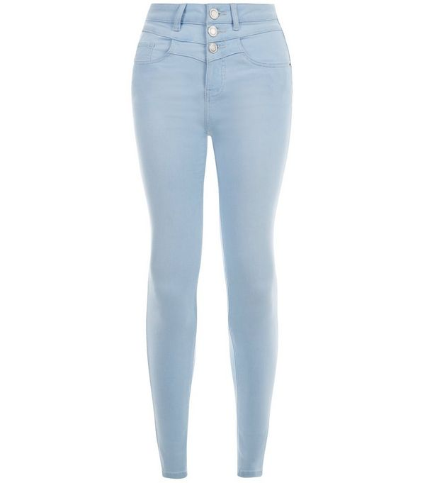 Light Blue High Waisted Skinny Jeans - Xtellar Jeans