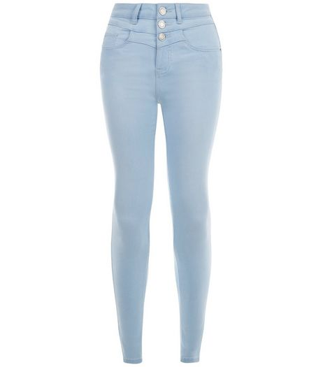 Teens Light Blue High Waisted Skinny Jeans | New Look