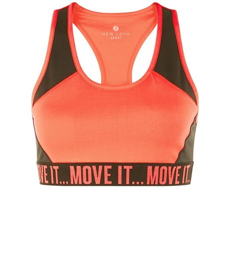 Bright Pink Move It Hem Sports Crop Top  | New Look