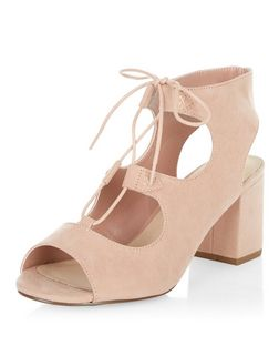 Stone Comfort Ghillie Block Heel Sandals  | New Look