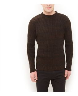 Brown Ribbed Jumper  | New Look