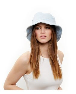 Light Blue Denim Bucket Hat | New Look