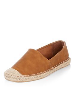 Tan Faux Leather Espadrilles  | New Look