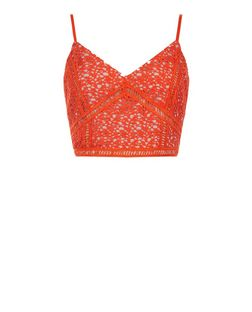 Red Lace Crop Top | New Look