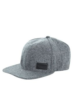 Grey Wool Mix Cap  | New Look
