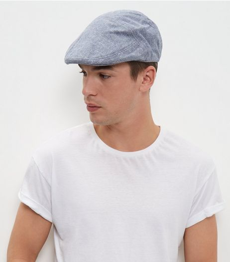 Blue Stitch Flat Cap  | New Look