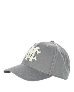 Grey Canvas Cap | New Look