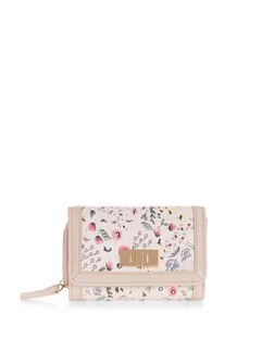 Shell Pink Ditsy Floral Print Purse  | New Look