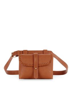 Tan Leather-Look Purse Belt | New Look
