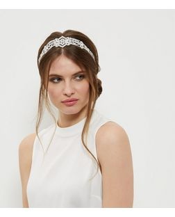 Crystal Embellished Headband | New Look
