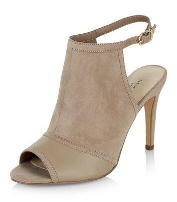 Sandalo  donna Light Brown Comfort Colour Block Sling Back Heels