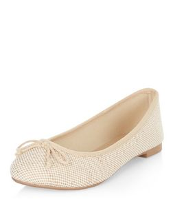 Cream Canvas Ballet Pumps  | New Look