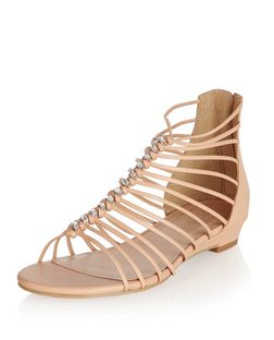Stone Strappy Wedge Sandals  | New Look