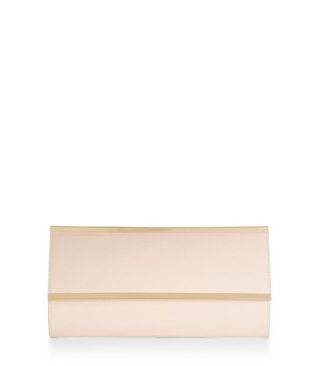 Pink Metal Bar Clutch  | New Look