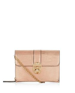 Pink Mini Push Lock Clutch  | New Look