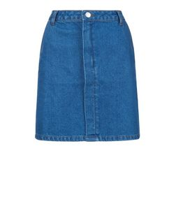 Blue Denim A-Line Mini Skirt  | New Look