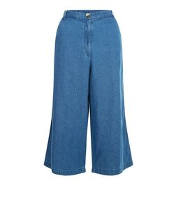 Innocence Blue Denim Culottes | New Look