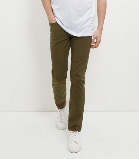 Khaki Skinny Trousers | New Look