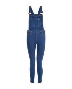 Blue Skinny Dungarees  | New Look