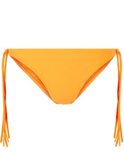 Orange Fringed Tie Side Bikini Bottoms | New Look