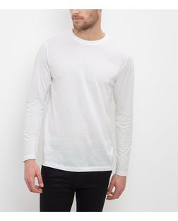 White Crew Neck Long Sleeve Top  | New Look