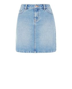 Blue Denim Mini Skirt  | New Look