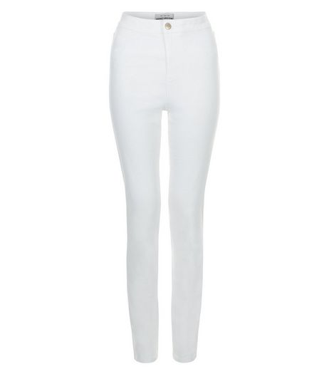 Tall 36in White High Waisted Super Skinny Jeans  | New Look