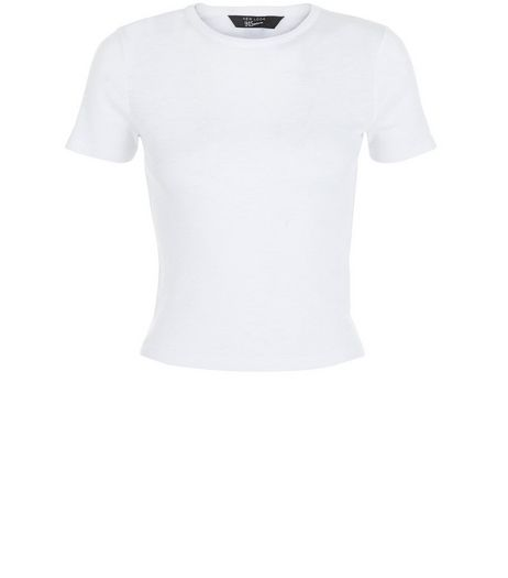 Teens White Ribbed Crop Top | New Look