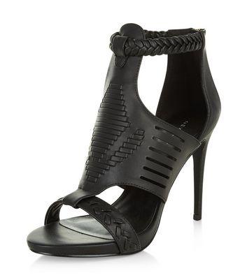 Sandalo  donna Black Woven Cut Out Heels