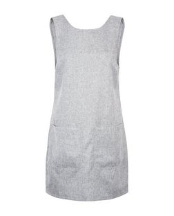 Heartbreak Grey Double Pocket Pinafore Dress | New Look