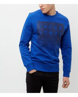 Jack and Jones Blue Abstract Print Sweater | New Look