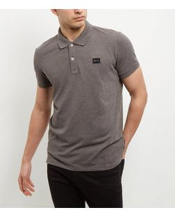 Jack and Jones Grey Polo Shirt  | New Look