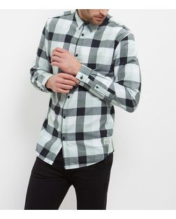Jack and Jones Grey Check Long Sleeve Shirt  | New Look