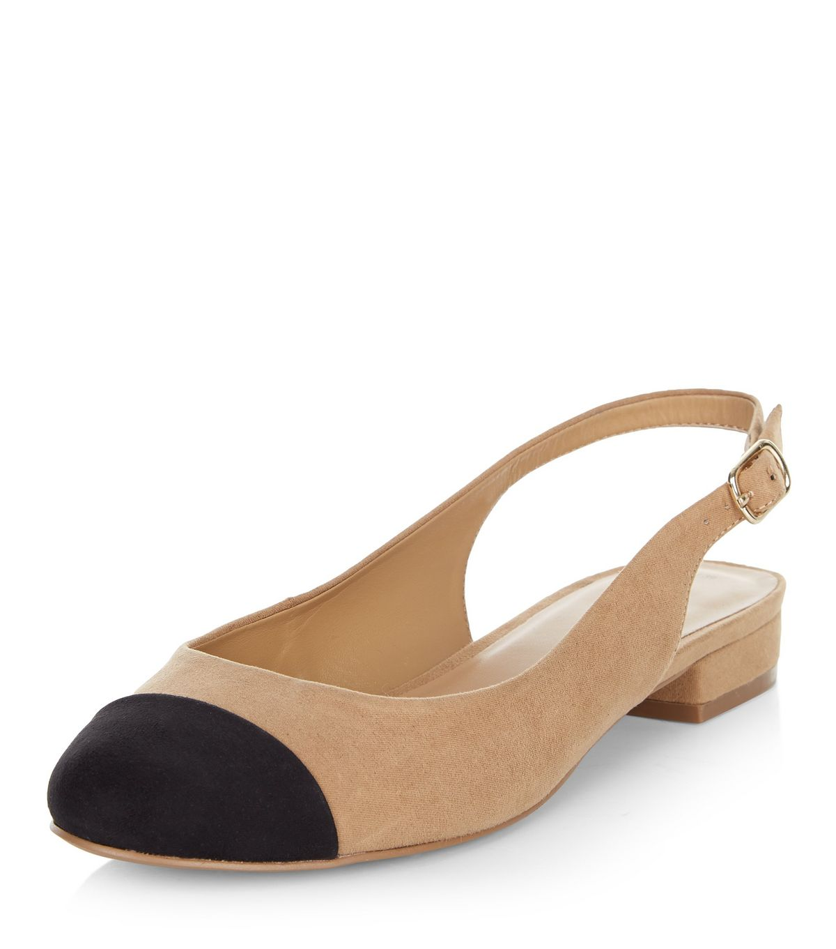 Tan Suedette Sling Back Pumps  | New Look