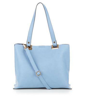 Pale Blue Shopper Bag