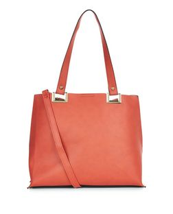 Orange Shopper Bag | New Look