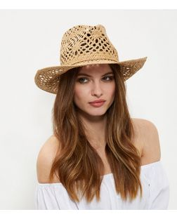 Stone Straw Cowboy Hat | New Look